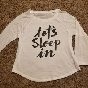 """Let's Sleep In"" long-sleeved t-shirt"
